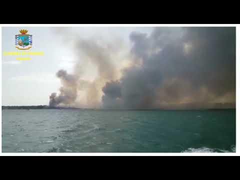 Incendio alla playa, Gdf in azione