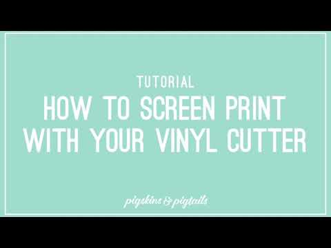 How To Screen Print Using Your Vinyl Cutter And Oracal 651 Vinyl