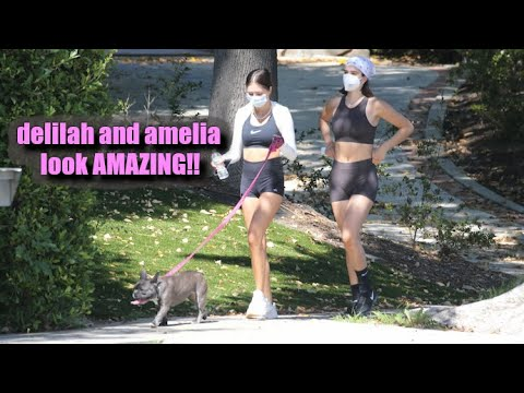 Delilah And Amelia Hamlin Flaunt Their FABULOUS Abs In Skin Tight Workout Gear