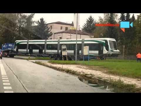 převoz tramvaje v Šumperku