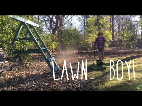 Modified Lawn-Boy mower makes fall cleanup a breeze!
