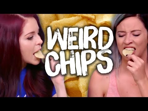 4 WEIRD Chip Flavors! (Cheat Day)