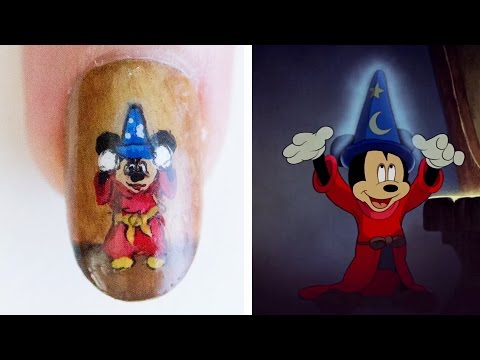nail art: fantasia disney
