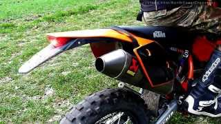 4. KTM EXC 450 Akrapovic titan with/without dB-Killer [HD]