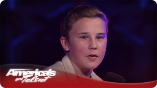 An Amazing Voice and He Is Only 14 Years Old - America's Got Talent Season 7 Edon Quarterfinals