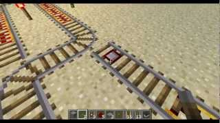 Minecraft - Making Rail Switches to Switch Tracks