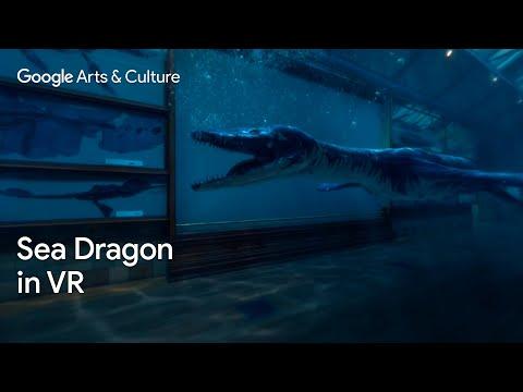 T-rex van de oceaan in VR
