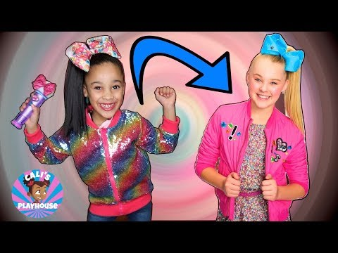 Cali Transforms Into Jojo Siwa | Cali's Playhouse