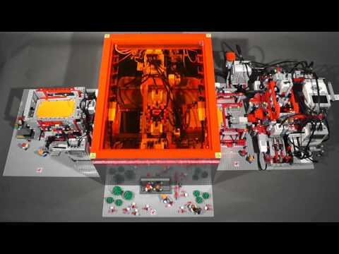 This Elaborate LEGO Mindstorms Factory Makes Just One Thing: Tiny Paper Boxes