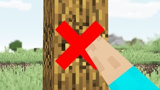 Video We Removed Punching Trees in Minecraft MP3, 3GP, MP4, WEBM, AVI, FLV Agustus 2019