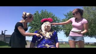 Girls tease and pie dude in public !