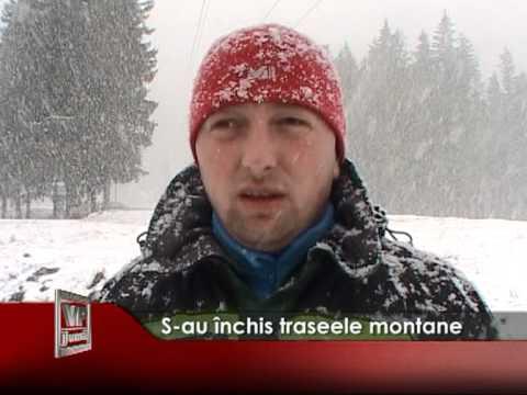 S-au închis traseele montane
