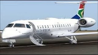 Mafikeng South Africa  city photo : FSX Embraer ERJ 135LR South African airlines smooth landing at Mafikeng airport