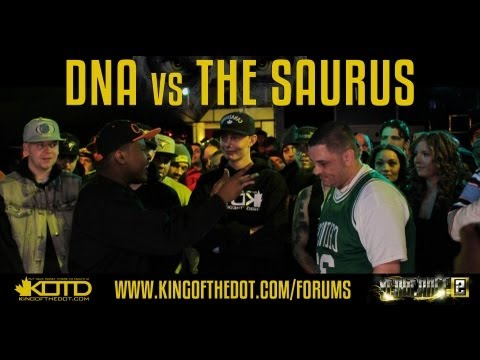KOTD - Rap Battle: DNA vs The Saurus (2013)
