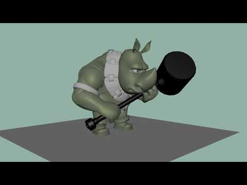 DoubleJump untitled project, Lizard and Rhino Animations