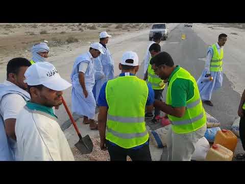 مبادرة تطوعية للحد من حوادث السير على طريق روصو – فيديو