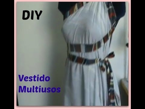 Como Hacer Un Vestido Multiusos Facil Y Rapido DIY How To Make A Wrap Dress