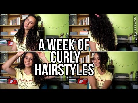 Curly hairstyles - 7 QUICK & EASY HAIRSTYLES FOR CURLY HAIR  My go to hairstyles!