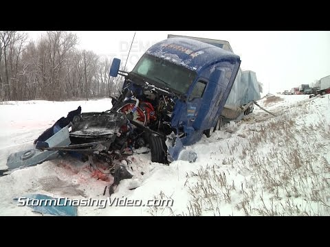 2/3/2015 Medford MN I35 Multiple Vehicle Pile Up