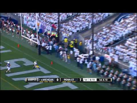 Devin Funchess 59-yard touchdown vs Penn St. 2013 video.