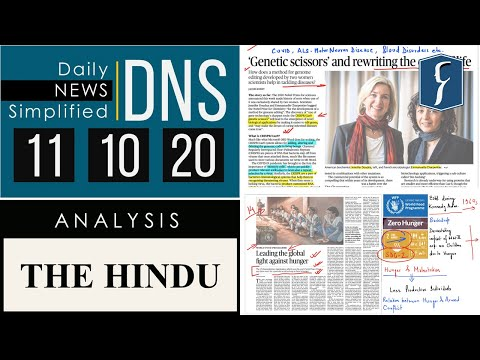 THE HINDU Analysis, 11 October 2020 (Daily News Analysis for UPSC) – DNS