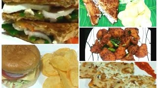 Best 5 ● Evening Snacks Recipes/ Quick and Easy Snacks Recipes/Veg Burger, Sandwiches, Gobhi 65 ...