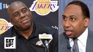Stephen A. questions if Magic Johnson can pull off a trade for Anthony Davis | Get Up!