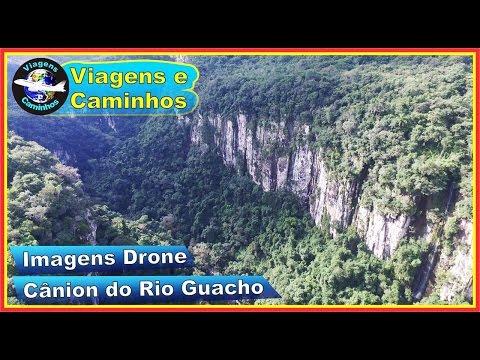 Imagens aéreas Drone Cânion do Rio Guacho - Campestre da Serra - RS