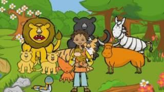 Teach Kids Arabic Animals Video الحيوانات Tareq wa Shireen (Rubicon) العربية