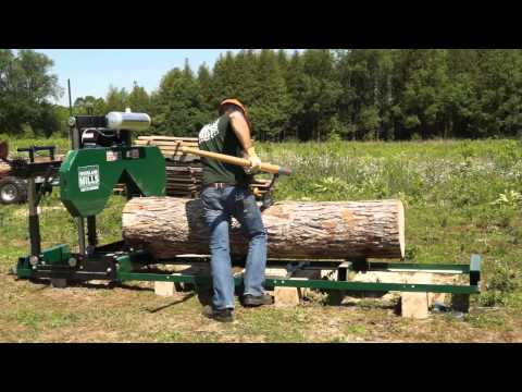 2013 HM126 Woodland Mills Portable Sawmill Promotional Video