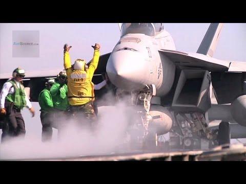 Super-Hornet en Catapulta de portaaviones