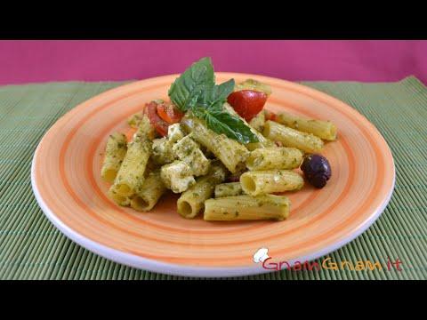 insalata di pasta col pesto - ricetta
