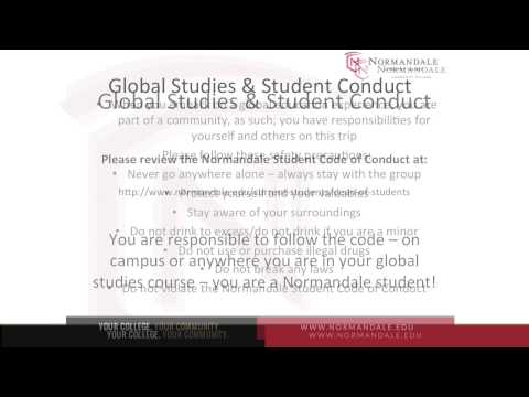 Global Studies and Student Conduct Video