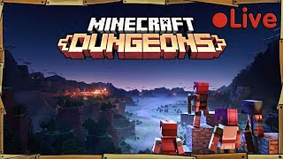 Minecraft Dungeons - With A Squid & A Duck - • Live