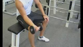 Videoanleitung zur Übung Unterarmbeugen mit einer Kurzhantel. Diese Übung trainiert die Unterarmmuskulatur. Weitere Übungen und alles rund um das Thema Fitness auf: http://www.wikifit.de