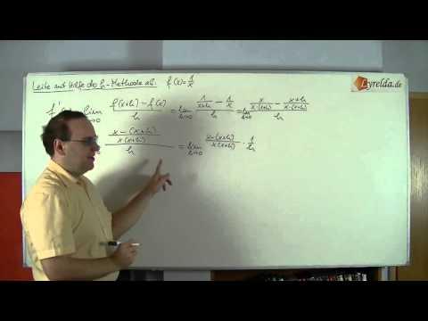 Ableitung h-Methode Lösung 3