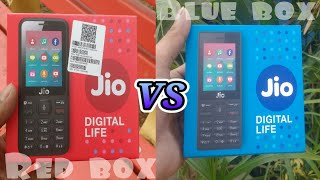 Video Jio phone blue box vs red box unboxing | difference between blue box & red box MP3, 3GP, MP4, WEBM, AVI, FLV September 2019