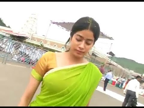 Actress Sridevi Daughter Jhanvi Visits Tirumala in Tirupathi,Vizagvision...