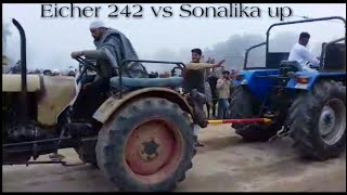 Eicher 242 old vs Sonalika 750 in up tractor tochan new video
