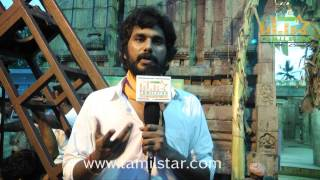 J Ruthra Speaks at Kalavu Thozhichalai Shooting Spot