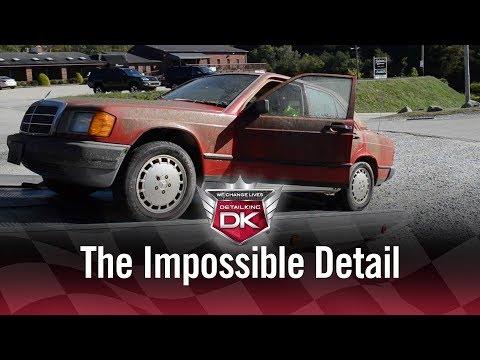 Как брошенный автомобиль отмывают до блеска