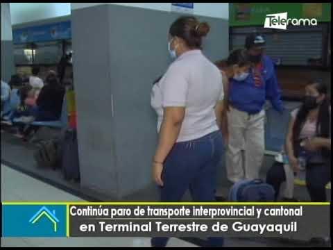 Continúa paro de transporte interprovincial y cantonal en terminal terrestre de Guayaquil