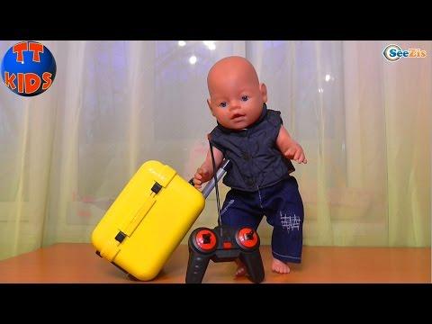 ✔ Беби Борн. Ярослава открывает подарок для игрушки. Чемодан для куклы. Видео для детей ✔ - DomaVideo.Ru