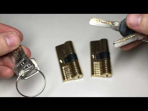(137) Banggood.com Review - 2 Brass Cutaway Dimple Locks