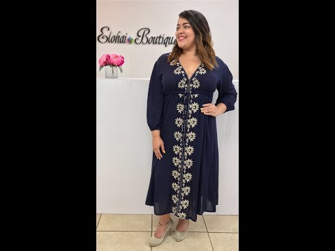 Bohemian Dress Elohai Boutique | Shop Online Now! Affordable and Fashion Plus Size Women Clothing