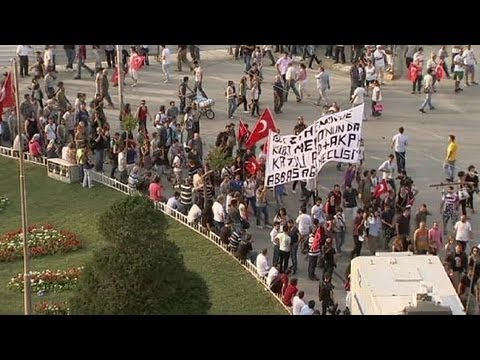 Turkey protests over Kurdish death come to Taksim Square