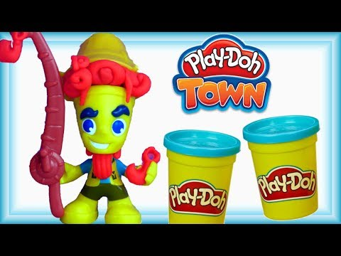 Play Doh Town • Wędkarz • Nowy mieszkaniec miasta • bajki i kreatywne zabawy