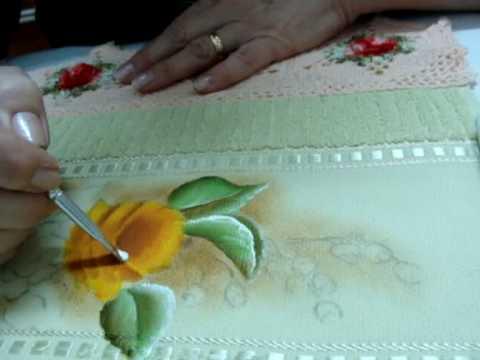Pintura em Tecido Rosa Amarela.wmv