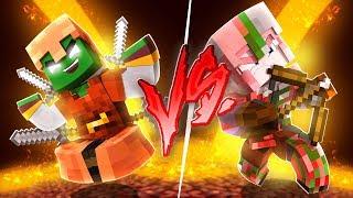 ¡Armadura de PIGLIN vs armadura de ZOMBIE PIGLIN! BATALLAS DE ARMADURAS en MINECRAFT