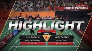 Amri Syahnawi/Rian S (Jaya Raya Jakarta) VS Hendra Aprida G/Rizko Asuro (Pertamina Fastron)
